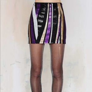 Nasty Gal Love the Nightlife Sequin Skirt